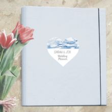 A4 Luxury Wedding Planner/Organiser featuring Personalised Marble Heart - Ideal Engagement Gift